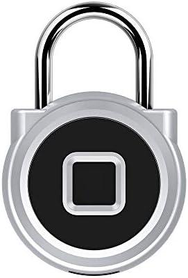 指紋ロック タッチロック 指紋南京錠スマートキーレスバイオメトリックロック防水盗難防止用のスマート指紋認証ロックUSB充電式シルバー 盗難防止セキュリティロック (色 : 銀, サイズ : 6.37x1.55x4.3cm)