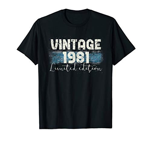 - Vintage 1981 Limited Edition 38th Birthday Gift T-Shirt
