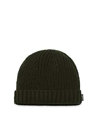 Jack Spade Men's Newkirk Ribbed Knit Winter Ski Hat Cap Olive
