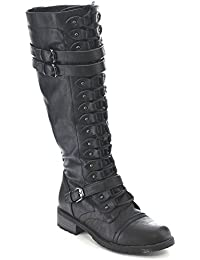 Wild Diva Lounge Blossom Lace-Up Boot A2iIb