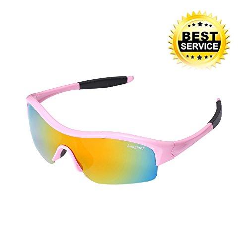 Polarized Sports Sunglasses for Kids Boys Children VANTEN Half Frame Cycling Sun Glasses for Kids Age - Sunglasses Fishing For Sight Polarized Best