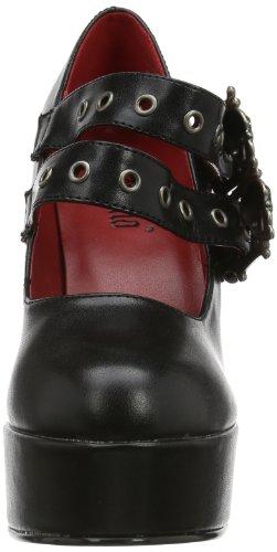 Leather Nero 16 Vegan Scarpe Tacco Demon Blk Demonia col Donna 6vRwHyqg