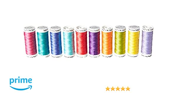 Sulky 712-34 Summer Collection Crossroads Cotton Petites 12 Weight 10 Pack Multicolor