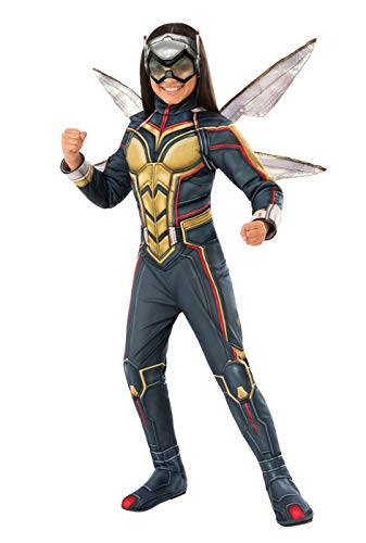 Marvel Girls Wasp Avengers Deluxe Halloween Costume with Wings Size Small ()