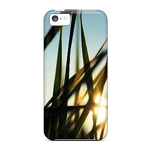 Shock Absorbent Hard Phone Cases For Apple Iphone 5c (UVQ30072sEgR) Custom Realistic Morninggrass Skin