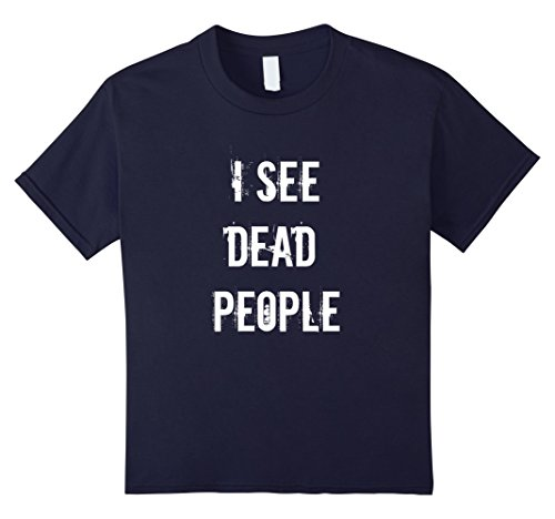 Kids I See Dead People Funny Halloween T-Shirt For Gamers 12 (Dead Person Halloween Costume)