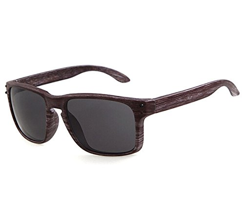 Heartisan Vintage Imitation Wood Frame UV400 Flash Mirror Sunglasses - Sunglass Hut Nz