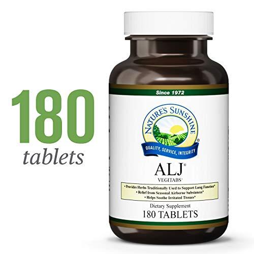 Nature's Sunshine ALJ, 180 Vegitabs | Herbal Respiratory Supplement Helps Support The Body During Seasonal Changes
