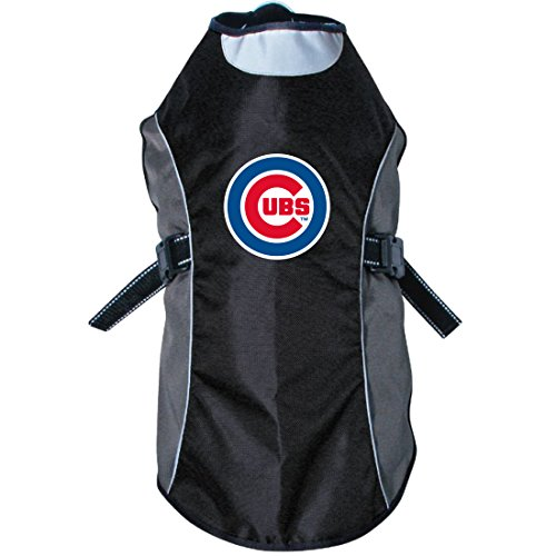Custom Mascot Costumes Chicago (MLB Chicago Cubs Hunter Reflective Pet Jacket, X-Small, Black or Navy)