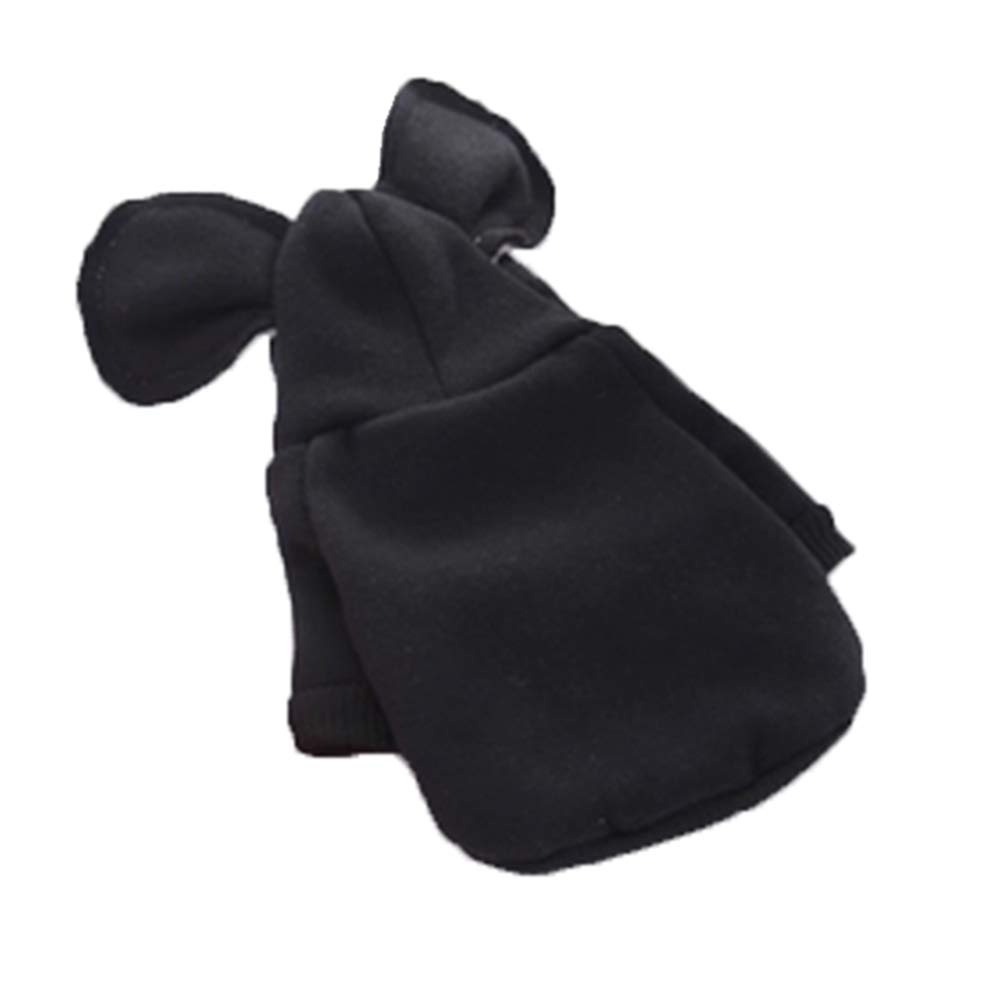 Linda Ropa para Mascotas Ropa De Perro Gato Ropa para Perros Perro Ropa Niño Perro Ropa Niña Otoño E Invierno Gato Azul Suéter Mascota Rojo FENGMING (Color : Negro, Tamaño : L)