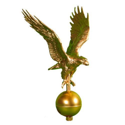 Montague Metal Products Flagpole Eagle, 12-Inch, Gold (Metal Cast Finial)