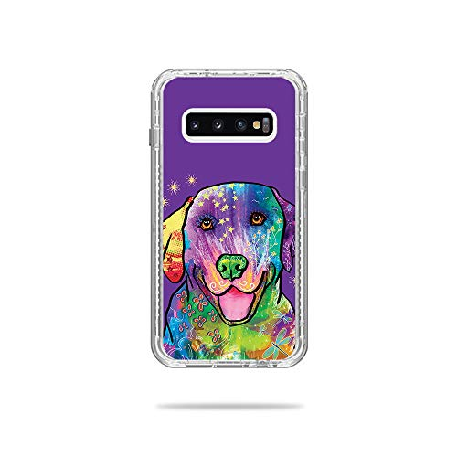 MightySkins Skin Compatible with Lifeproof Next Case Samsung Galaxy S10 - Golden Retriever Rainbow | Protective, Durable, and Unique Vinyl wrap Cover | Easy to Apply, Remove | Made in The USA