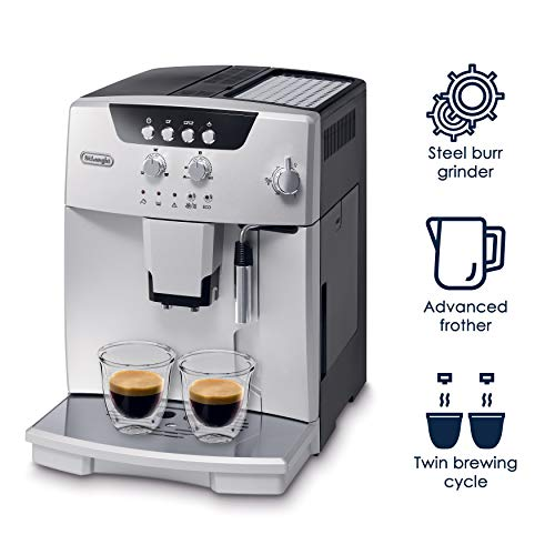 De'Longhi ESAM04110S Magnifica Fully Automatic Espresso Machine with Manual Cappuccino System, 23.1, Silver