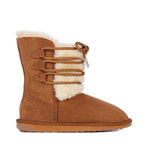 4ccfe1d888b18 EMU Australia Womens Sorby Winter Real Sheepskin Boots Size 8