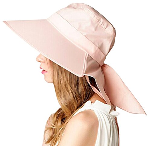 Bienvenu UV Sun Protect Summer Beach Wide Large Big Brim Hat Visor