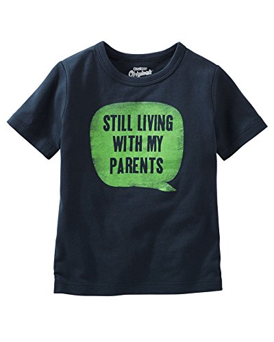 OshKosh B'Gosh Big Boys' Graphic Tee, Still Living with My Parents, 12 Kids