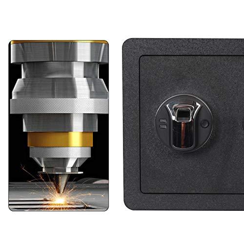 Fingerprint Security Safe Box Fireproof Waterproof Lock Box Cabinets Gun Pistol Cash Strongbox Solid Steel Safety Jewelry Storage Money Boxes w/Deadbolt Lock&2 Emergency Keys&4 Battery Wall-Anchoring by Reliancer (Image #4)