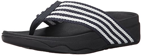 (FitFlop Women's Surfa, Supernavy/White, 5 M US)