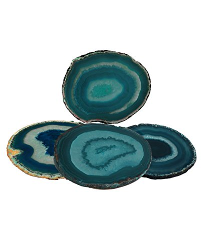 Agate Coaster Teal 3-3.5