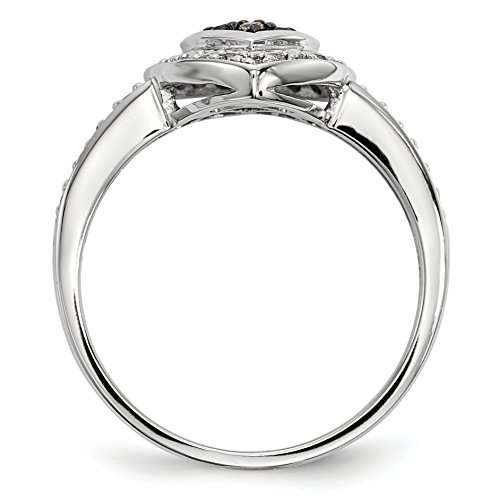 ICE CARATS 925 Sterling Silver Champagne Diamond Small Heart Band Ring Size 8.00 S/love Fine Jewelry Gift Set For Women Heart by ICE CARATS (Image #3)