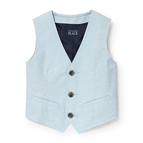 The Children's Place Baby Boys Oxford Dressy Vest, Sky Blue 3761, 3T (Boys Dressy Vest)
