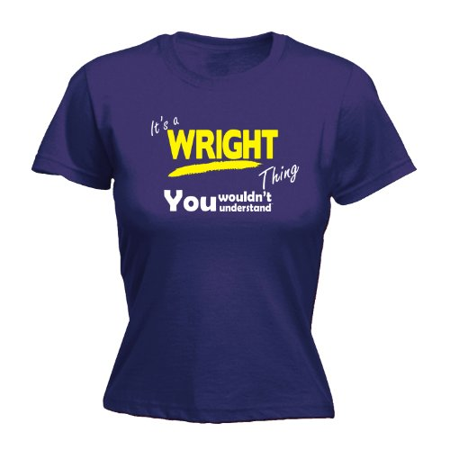 Its A Surname Thing Herren T-Shirt, Slogan Violett - Violett