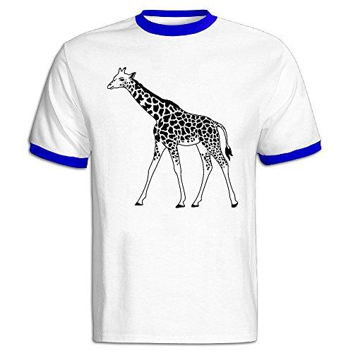 Men's Giraffe Baseball Tee Shirt RoyalBlue