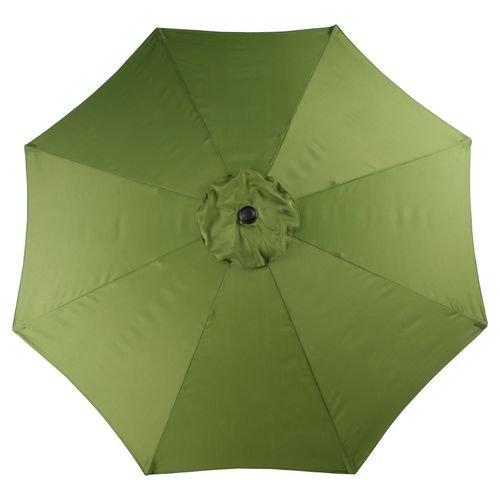 Mosaic 9 Ft Outdoor Patio Round Steel Market Beach Umbrella (Avocado) For Sale