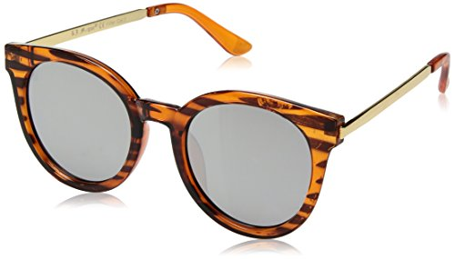 A.J. Morgan Hi There Round Sunglasses, Tortoise Stripe, 50 mm