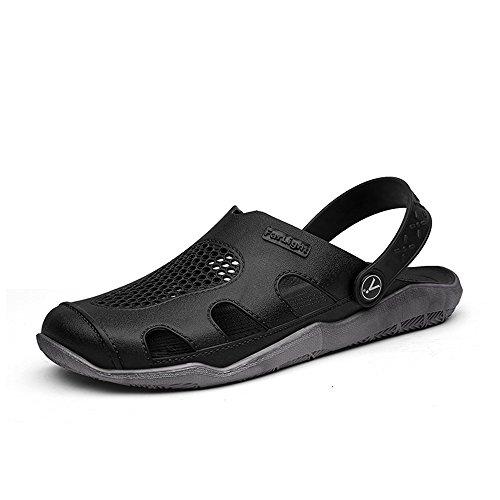 piatto Ciabatte On Trend spiaggia Sandali Slip Gray Black Vamp 2018 uomo Hollow shoes Outdoor Mens da Tacco da Eqvn1Y7x