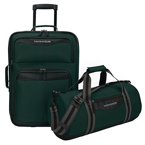 us-traveler-hillstar-carry-on-expandable-rolling-luggage-set-forest-17-inch-and-21-inch
