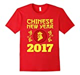 Men's PROUD YEAR OF THE ROOSTER T-SHIRT Chinese New Year 2017 Gift Medium Red