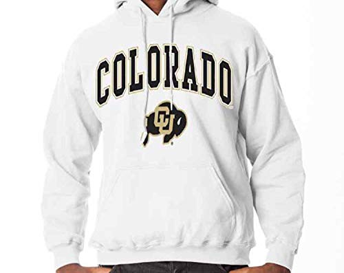 Colorado Buffaloes Arch & Logo Gameday Hooded Sweatshirt - White, Small