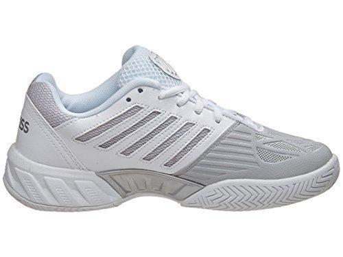 K-Swiss Junior Bigshot Light 3 Tennis Shoes (White/Silver) (5.5 US)