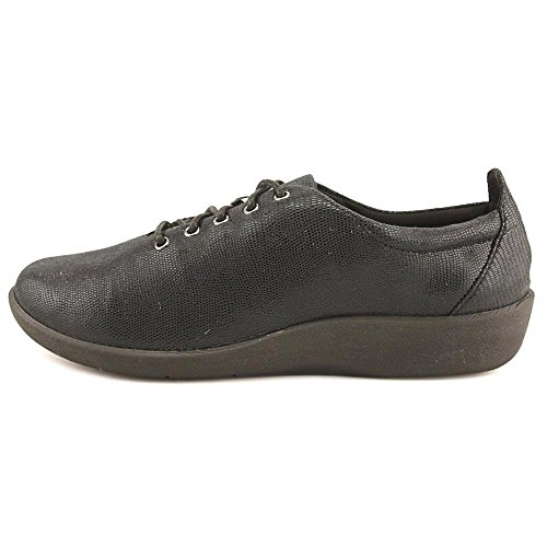 Clarks Mujeres Cloudsteppers Sillian Tino Lace-up Shoe Black Lizard