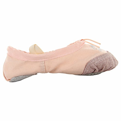 Dames Yoga Canvas Ballet Dansschoenen Natural