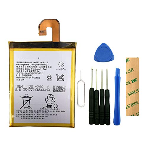 for T-Mobile Sony Xperia Z3 D6616 Replacement Battery LIS1558ERPC Free Adhesive Tool (T Mobile Sony Xperia Z3 Phone)