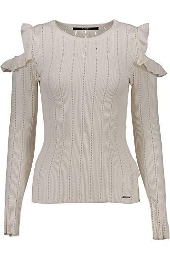 A021 Donna Maglia W74r0dz1ow0 Guess Jeans Bianco aOwfHq