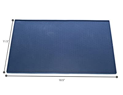 Pet Feeding Mat - Great for Cats and Small Dogs - Protects Your Floors From Food and Water - Premium, Nontoxic Silicone - Indoor and Outdoor Use - Flexible and Easy to Clean By Pet Worlds