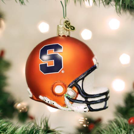 Old World Christmas 65317 Ornament, Syracuse Helmet