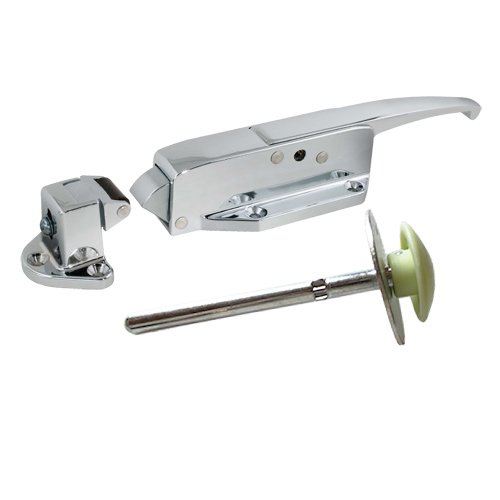 Complete Latch Kit - Kason 58 Polished Chrome Handle with 1-3/4'' to 2-1/2'' offset Strike