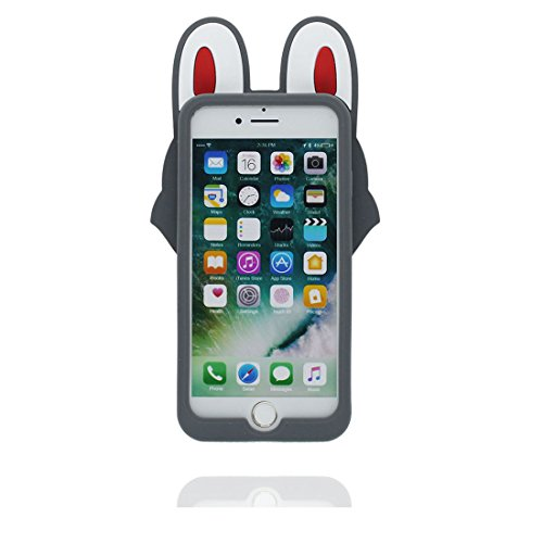 iPhone 7 Plus Coque, Étui iPhone 7 Plus 5.5 pouces, [ TPU Flexible 3D Cartoon lapin ] glissement résistant aux rayures, Case iPhone 7 Plus et stylet