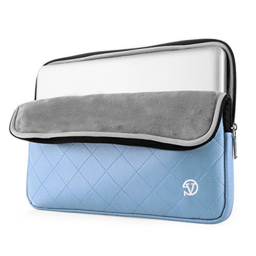 VanGoddy Gummy 15.6 inch Laptop Neoprene Sleeve Bag Case Briefcase for 14-15.6 inch laptop - for Dell Inspiron 15 3000 Series (Light Blue)