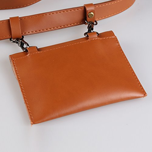 Waist as Outdoor Pack Zip Bag Wallet Described Baoblaze Belt Bag Red Fanny Running Sport Pouch Camel Bum Jogging gRnU6PwqW