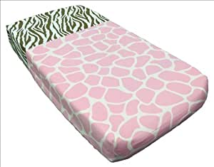 Sisi Baby Design Diaper Changing Table Pad Cover -Pink Safari