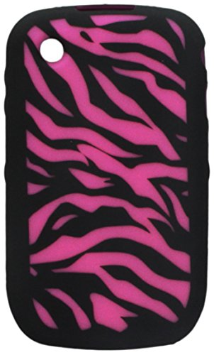 MyBat Laser Zebra Skin Cover for Blackberry 8520 (Curve) - Retail Packaging - Hot Pink/Black