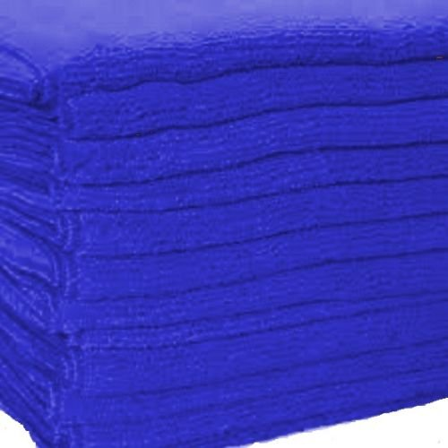 GHP Pack of 120 Dark Blue Microfiber 16x16 Professional Grade Bulk Cloths