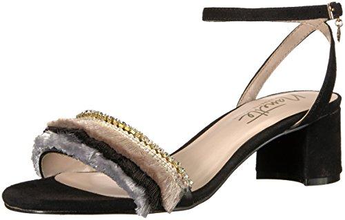 Nanette Lepore Women's Darla Heeled Sandal, Black, 10 M US
