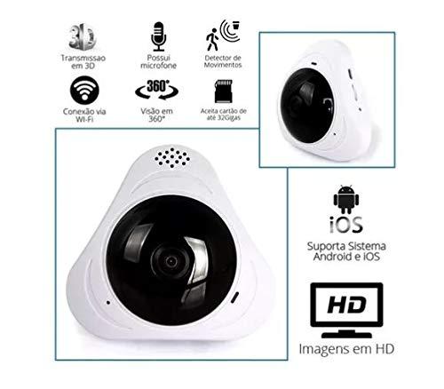 Mini Câmera Panorâmica Segurança 3d Wi-fi 360º Sensor