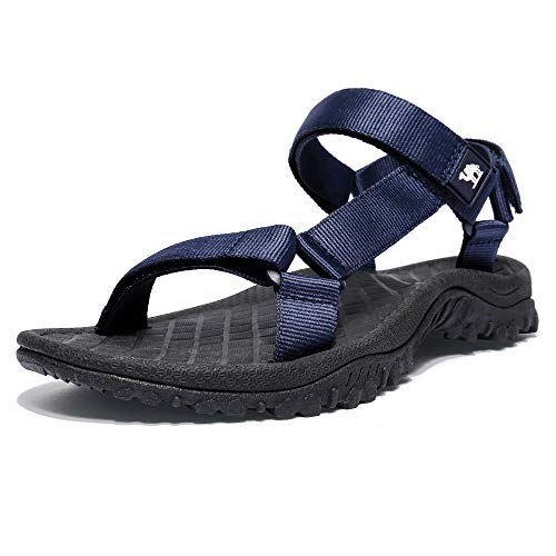 CAMEL CROWN Sport Sandals for Men Anti-skidding Water Sandals Comfortable Athletic Sandals for Outdoor Wading Beach Blue 9.5 M US ()